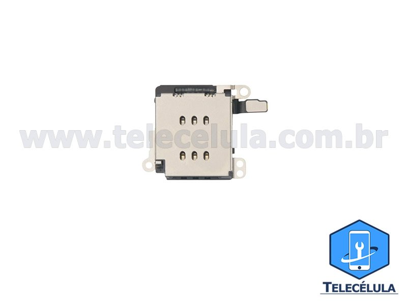 Sem Imagem - CONECTOR DE SIM CARD GAVETA SLOT SIM CARD ORIGINAL PARA APPLE IPHONE XR ORIGINAL 821-01733-A