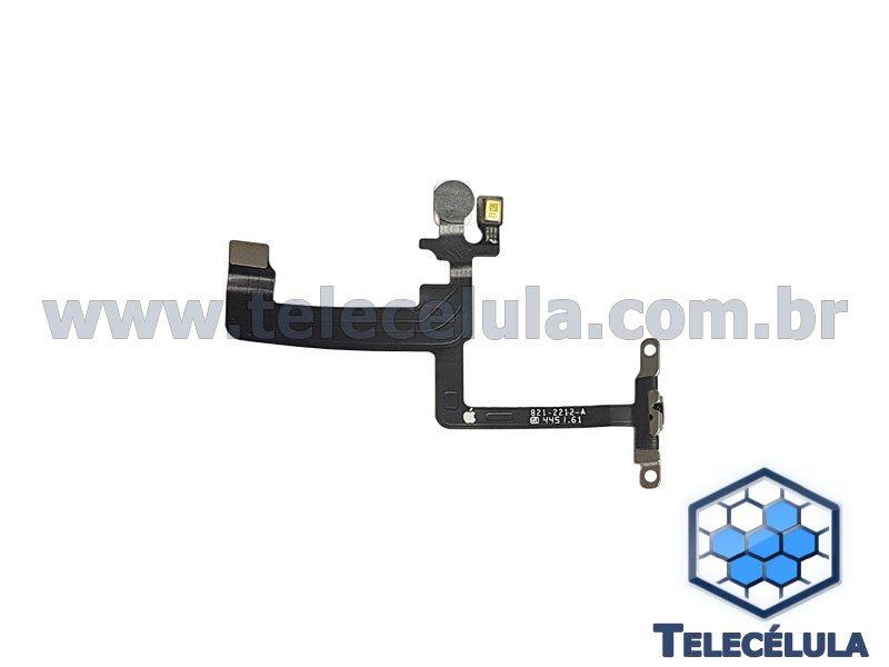 CABO FLEX DO BOTÃO POWER IPHONE 6 PLUS COM FLASH E MICROFONE ORIGINAL