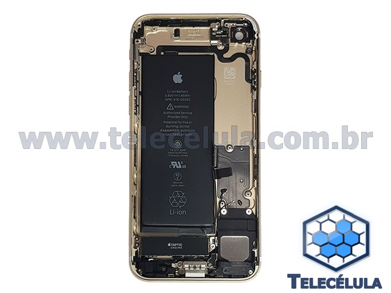 BACK HOUSING CARCAÇA ORIGINAL APPLE IPHONE 7 GOLD BATERIA A1660, FLEX CC, FLEX POWER, VOLUME, TAPTIC