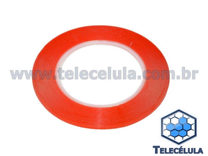 FITA ADESIVA DUPLA FACE 3MM VERMELHA PARA REPAROS EM GERAL TOUCH, LCD,  BATERIA COM 0d4cb8e371