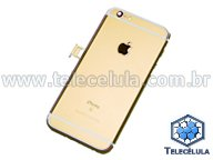BACK HOUSING IPHONE 6S ORIGINAL DOURADO A1633 COM BATERIA, FLEX POWER, FLEX DOCK, CAMPAINHA