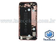 HOUSING TRASEIRO APPLE IPHONE 6SP - A1687 - BATERIA FLEX CARGA, VOLUME/POWER MONTADO-ROSE ORIGINAL