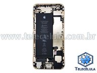 HOUSING TRASEIRO APPLE IPHONE 6 - A1586 - BATERIA FLEX CARGA, VOLUME/POWER MONTADO DOURADO ORIGINAL