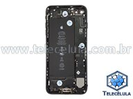 BACK HOUSING COM BATERIA E FLEX CABLES IPHONE 7 PLUS A1661 PRETO ORIGINAL
